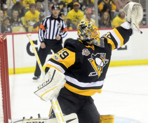 Marc-Andre Fleury backstops Pittsburgh Penguins to Game 1 win over Columbus Blue Jackets