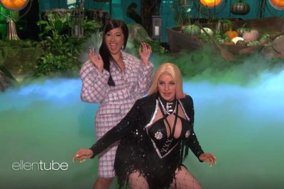 Cardi B teaches Ellen DeGeneres to twerk as 'Cardi E'