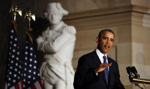 Obama eulogizes Tom Foley at Capitol memorial service