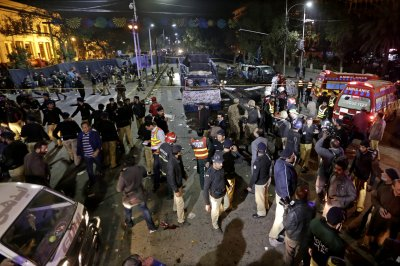 At least 11 killed in Lahore, Pakistan, suicide bombing