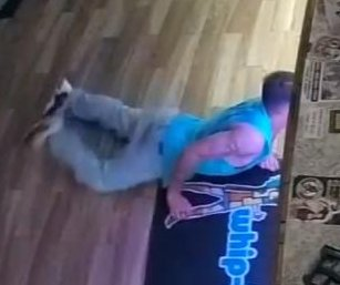 Burglar slithers across store floor in Texas