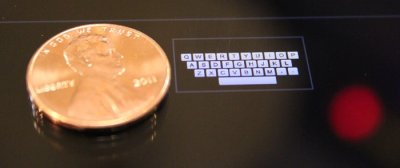 Zoomable keyboard could allow typing on a 'smart watch'