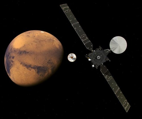 ESA spacecraft in orbit around Mars, still no word from lander