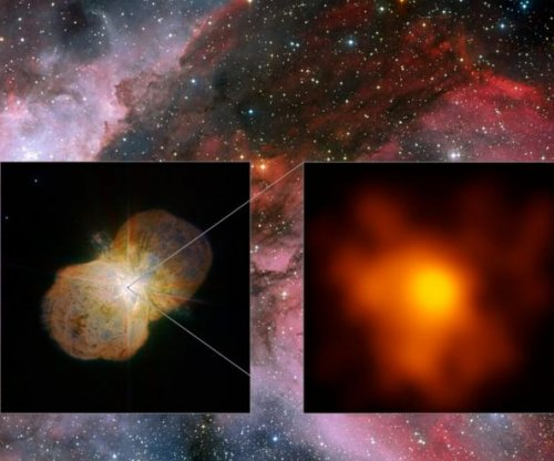 Deep-space images show violent winds colliding inside Eta Carinae