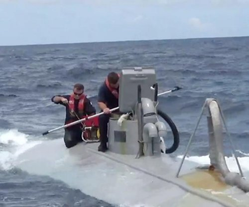 U.S. Coast Guard seizes drug-running submarine filled with cocaine