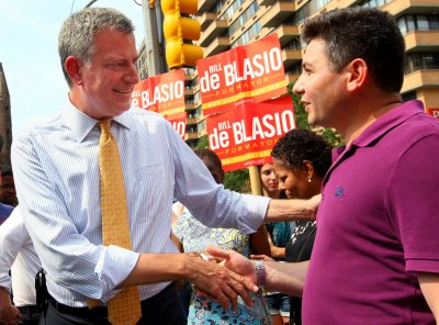 Democrat Bill de Blasio has 44-point lead in NYC mayoral race