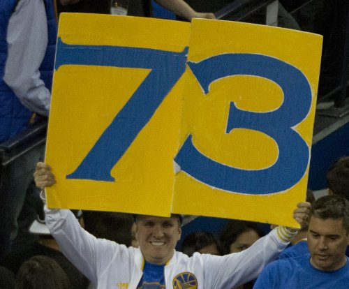 Golden State Warriors set NBA record with 73 wins, Stephen Curry scores 46