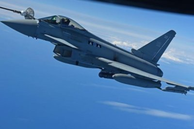 U.K. Typhoon fighter flies with Meteor air-to-air missiles for first time