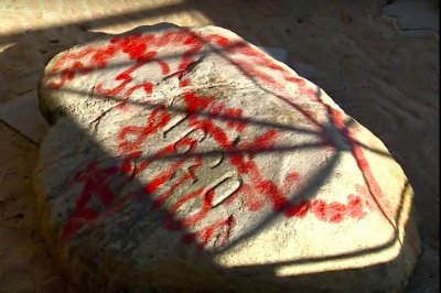 Plymouth Rock, other Massachusetts landmarks vandalized