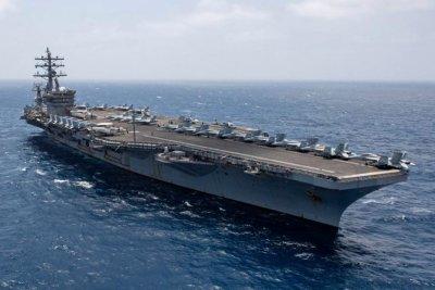 USS Eisenhower, carrier strike group head to Mediterranean Sea