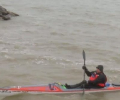 Kayaker attempting to circumnavigate all five Great Lakes