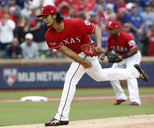 Yu Darvish pitches Texas Rangers past Los Angeles Angels