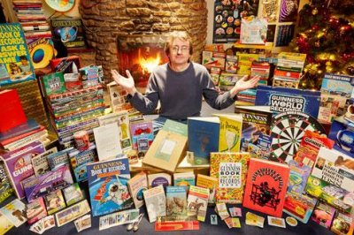 Guinness book collector gets Guinness World Record