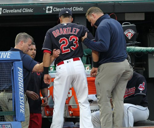 Cleveland Indians OF Michael Brantley leaves game with ankle injury