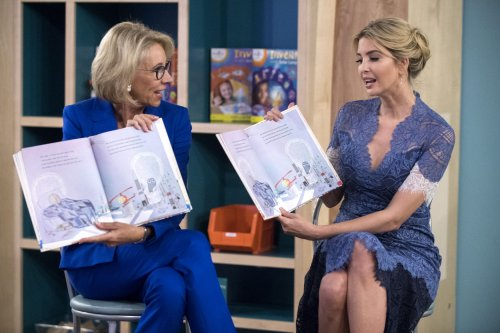 Ivanka Trump, Betsy DeVos read to young girls at Smithsonian