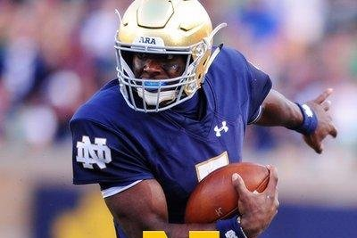 No. 22 Notre Dame rolls amid RB injuries
