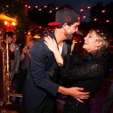 Kaley Cuoco celebrates Ryan Sweeting's birthday with pop-up book cake, swimmers and friends