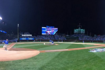 Chicago Cubs show David Ross on 'Dancing with the Stars' during rain delay