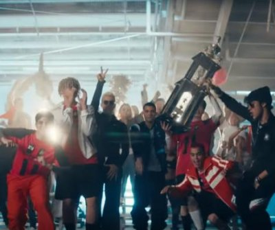 PrettyMuch, CNCO play soccer in 'Me Necesita' music video