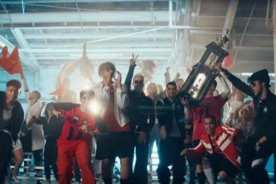 PrettyMuch, CNCO play soccer in 'Me Necesita' music video