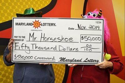 Maryland man collects second big lottery prize in two years