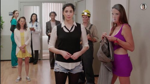 Sarah Silverman tries to close the wage gap