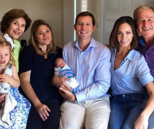 Laura Bush shares first family photo with her new granddaughter Poppy