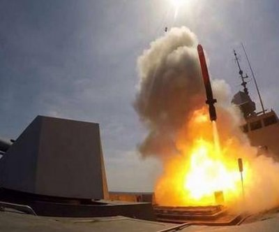 French FREMM frigate test fires cruise missile