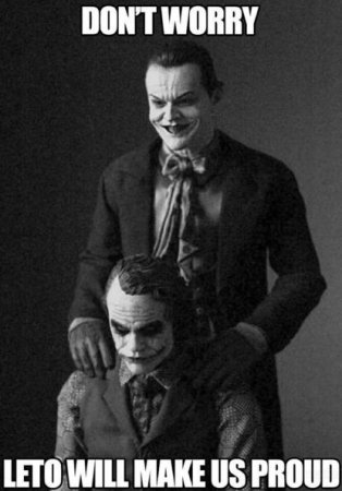 Jared Leto shares 'proud' Jack Nicholson, Heath Ledger Joker photo