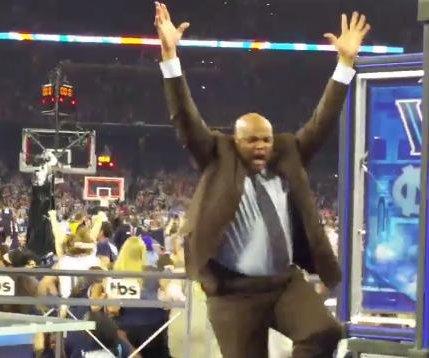 Charles Barkley celebrates Villanova victory