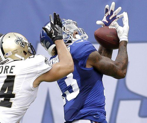 New York Giants WR Odell Beckham Jr. participates in individual drills