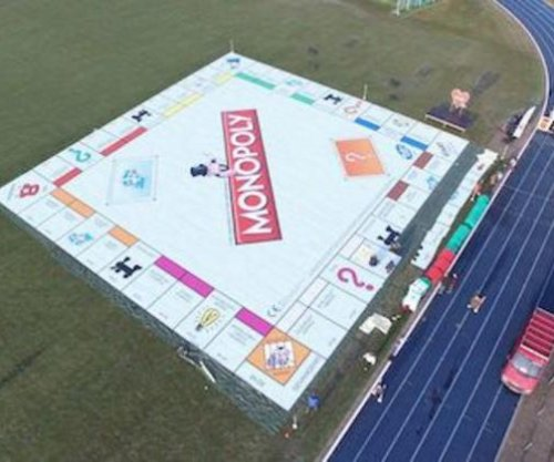 Netherlands students break record with 9,690-square-foot Monopoly board