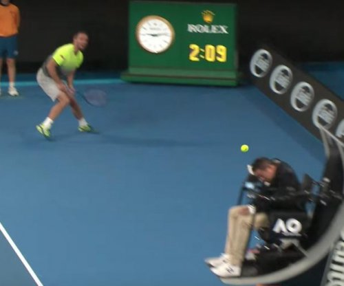 Australian Open: Viktor Troicki drills chair umpire in head with ball
