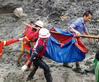 More than 100 killed by landslide at rainy Myanmar jade mine