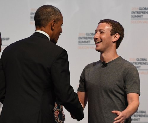 Obama, Zuckerberg promote entrepreneurship at global summit at Stanford University