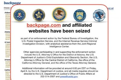 Federal agencies seize, shut down Backpage.com