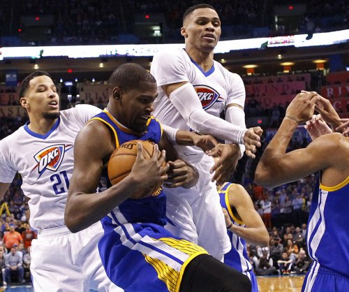 Golden State Warriors' Kevin Durant (hand) out vs. Brooklyn Nets