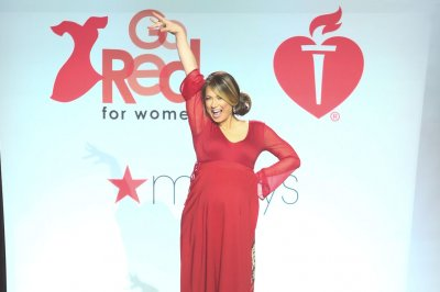 Ginger Zee shows off baby bump at Go Red fashion show