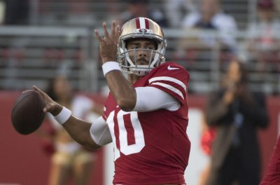 San Francisco 49ers' Jimmy Garoppolo throws five straight INTs in practice