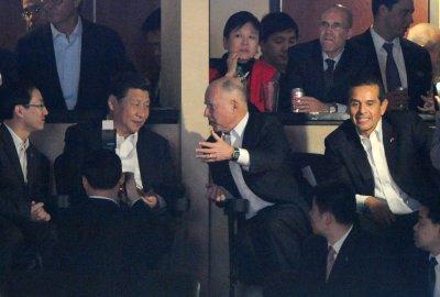 Chinese VP wraps U.S. visit at Lakers game