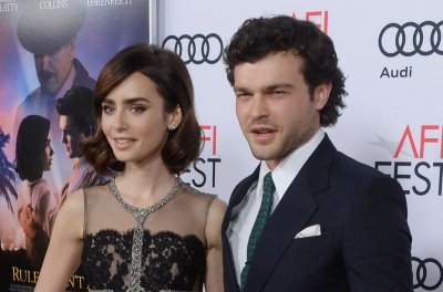 Lily Collins, Alden Ehrenreich dazzle at 'Rules Don't Apply' premiere