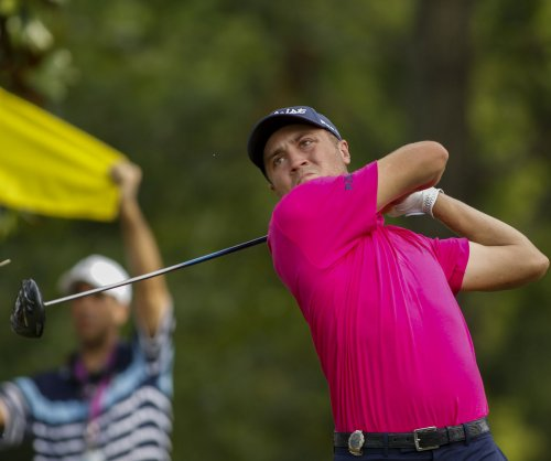 PGA Tour Championship: Justin Thomas' eagle nets 3-way tie at top