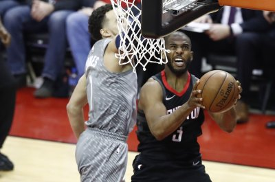 Rockets' Chris Paul makes circus layup vs. Timberwolves