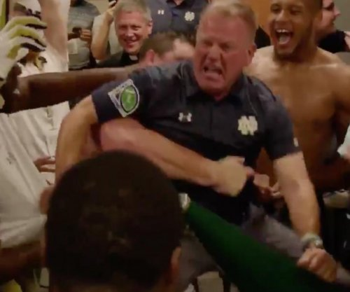 Brian Kelly: Notre Dame coach broke it down in locker room after Michigan State win