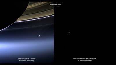 NASA spacecraft capture images of Earth from millions of miles away