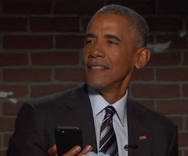 Barack Obama reads mean tweets on 'Jimmy Kimmel'