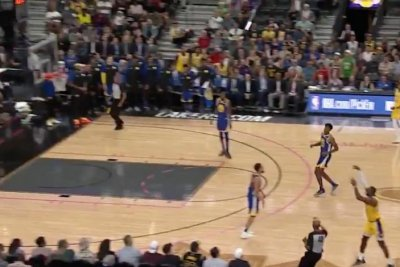 LeBron James hits buzzer-beater near half court vs. Warriors