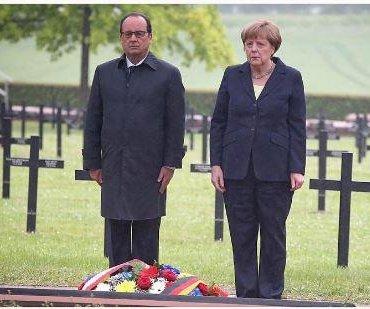 France's Hollande, Germany's Merkel mark 100 years since Battle of Verdun
