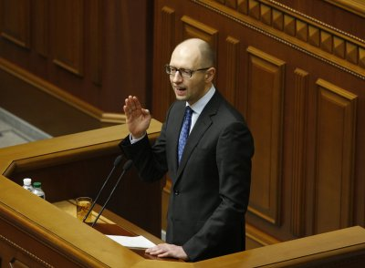Ukraine's interim prime minister visits Washington seeking aid