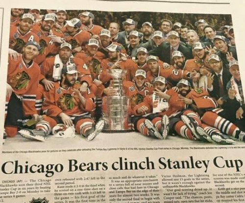 Korea Times gaffe: 'Chicago Bears clinch Stanley Cup'
